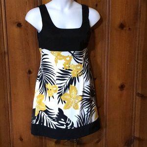 Sleeveless  Black and Gold Dress, Size 12